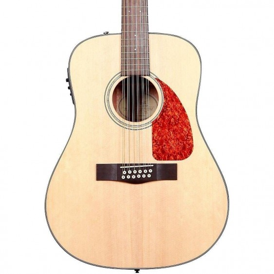 Fender CD-160SE-12 Acoustic Electric 12 String Guitar w/Case and Cable BUNDLE