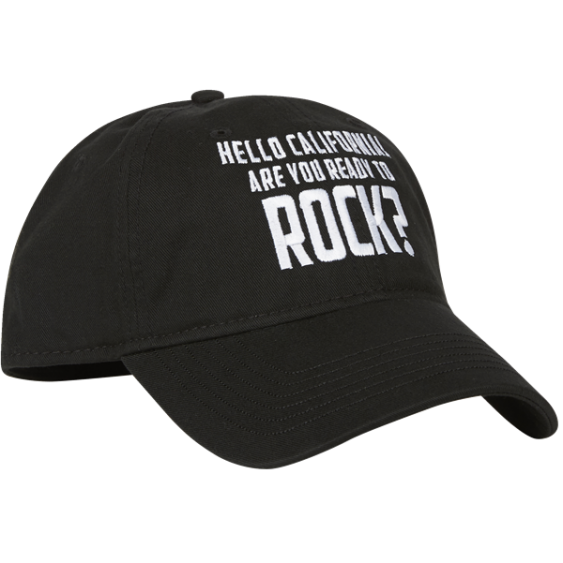 "Genuine Fender ""HELLO CALIFORNIA ARE YOU READY TO ROCK"" Ballcap Hat #9106649000"