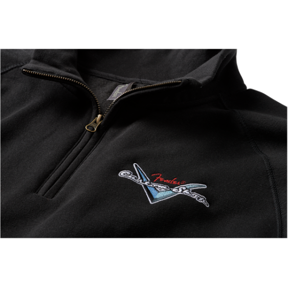 Fender® Custom Shop Half Zip Sweater, Black, Large - #9123013064