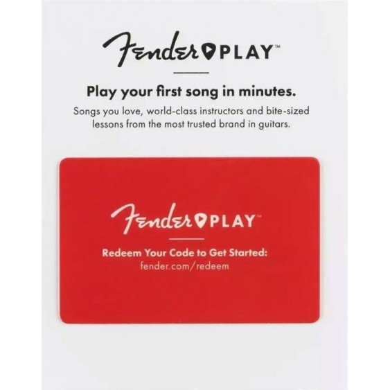 Fender Play 3 Month Subscription for Beginner Acoustic Electric Guitar Lessons