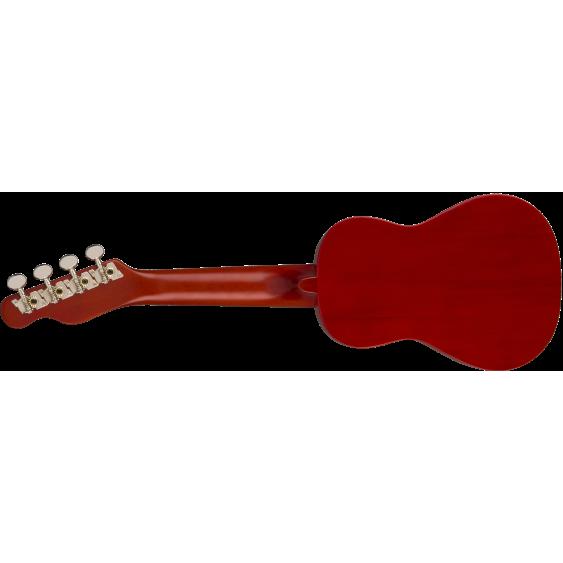Fender Venice Model Cherry Finish Soprano Size Ukulele