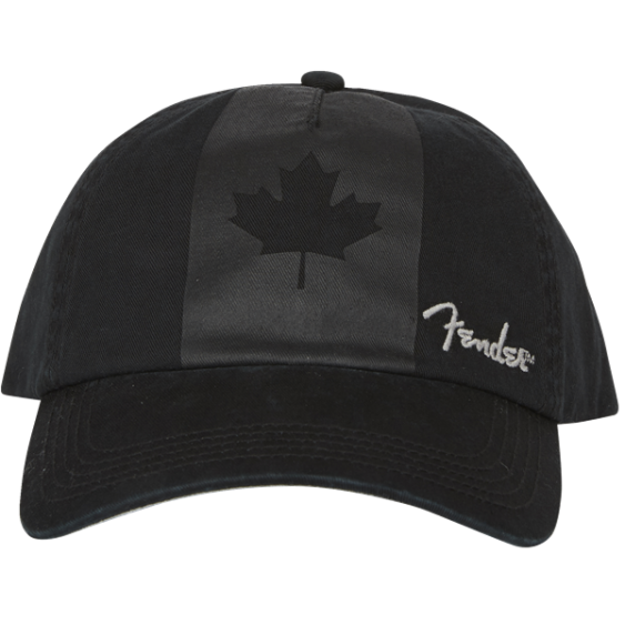 Genuine Fender Canada Maple Leaf Flag Blackout Hat One Size Fits All #9106654000