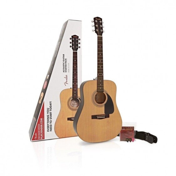 Fender FA-115 Full Size Acoustic Guitar Package with Tuner, Picks, and More