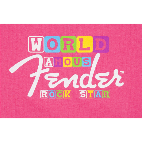 FENDER® WORLD FAMOUS ROCK STAR T-SHIRT Toddler Size 2T