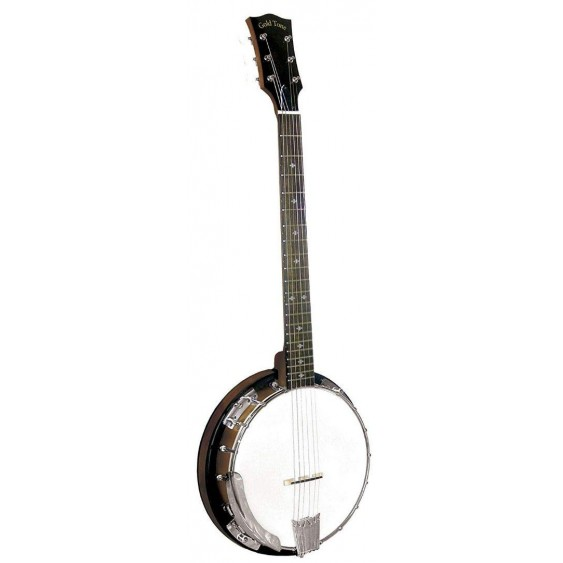 Gold Tone CC-Banjitar Cripple Creek Banjo (Six String, Vintage Brown)