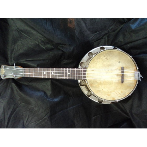 "Antique ""Sterling"" Banjolele made by Tonk Brothers of Chicago , Il. with case"