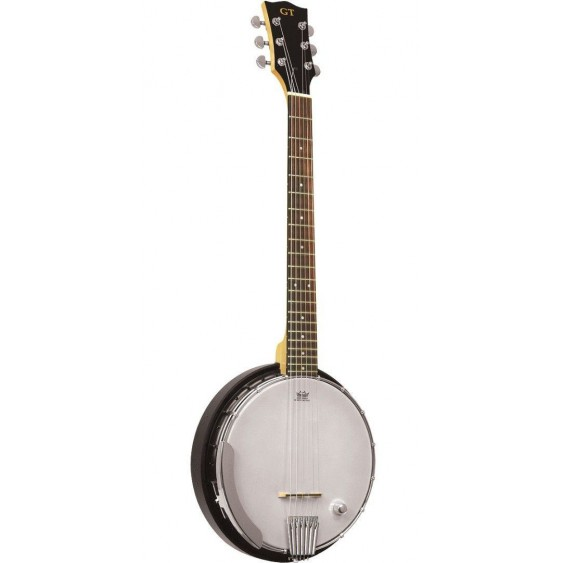 Gold Tone Model AC-6+ Acoustic Electric Composite Six String Banjo Guitar w/Bag