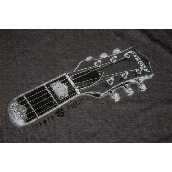 Gretsch Guitars Headstock Graphic Gray T-Shirt - Mens Size Large #9226437606