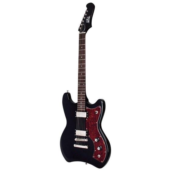 Guild S-50 Jetstar Solid Body Electric Guitar in Black with Gig Bag - Blem #N449