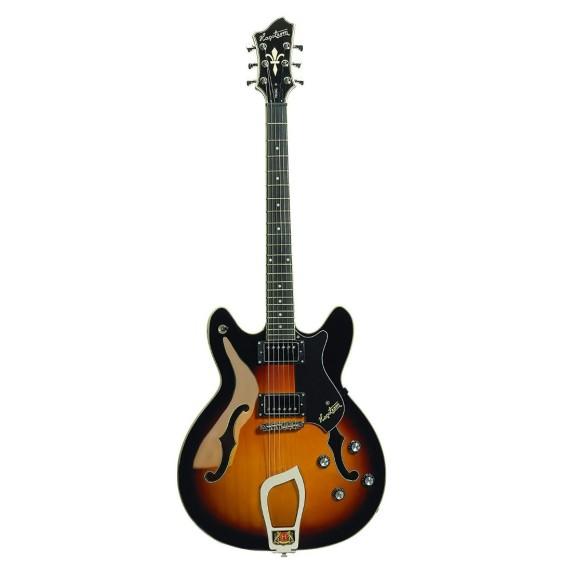 Hagstrom Model VIK-TSB Semi-Hollowbody Viking Sunburst Electric Guitar
