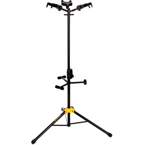 Hercules Model GS432B Auto Grab Triple Stand For Acoustic & Electric Guitars