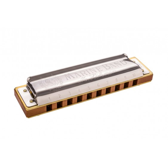 Hohner Marine Band Harmonica 1896BX Key of Natural Minor B - German Made