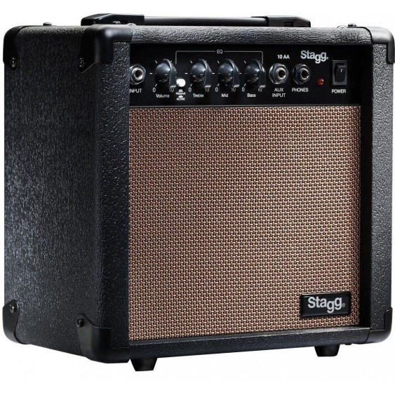 Stagg Model 10 AA USA 10 Watt Acoustic Guitar Combo Amplifier 8 Inch Speaker