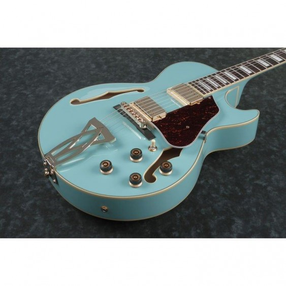 Ibanez AG75GMTB Artcore Hollow Body Cutaway Electric Guitar in Mint Blue Finish