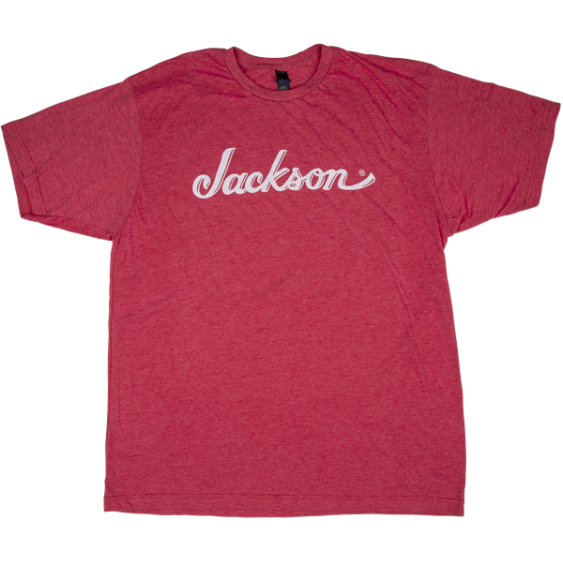 Jackson Guitars Heather Red Logo Graphic T-Shirt, Mens Size Medium #0995257506