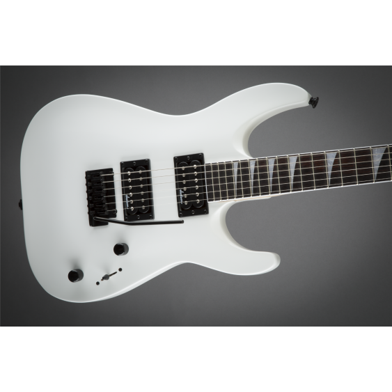 Jackson JS22 Dinky DKA Arch Top Electric Guitar Snow White Maple Neck - Demo