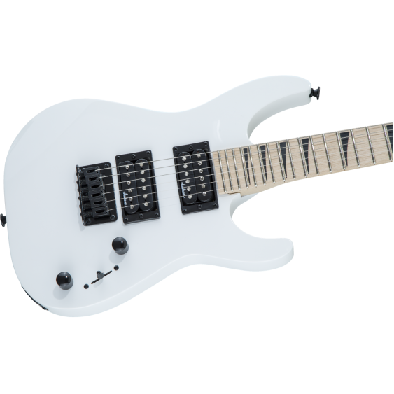 Jackson Dinky Minion JS1XM Guitar, Maple Fingerboard, Snow White with Bag