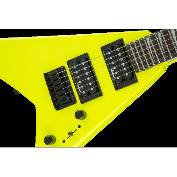 Jackson JS Series Rhoads Mini RR Minion JS1X, Amaranth Fingerboard, Neon Yellow