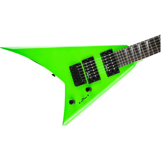 Jackson JS Series RR Minion JS1X Rhoads Mini Electric Guitar Neon Green with Bag