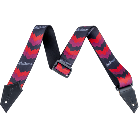 Jackson® Guitar Strap with Double V Pattern, Black/Red MODEL # 2993258002