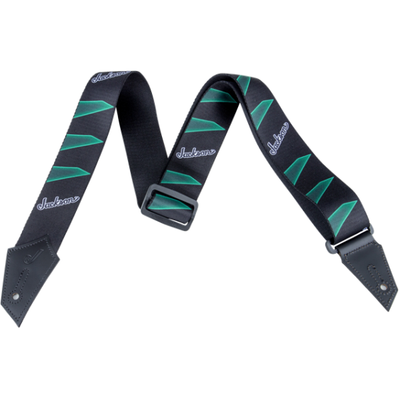 Jackson® Guitar Strap with Headstock Pattern, Black/Green Model # 2994323002