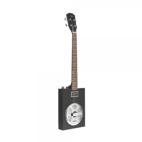 James Neligan CASK-PUNCHCOAL Cigar Box Acoustic Electric Guitar with Gig Bag