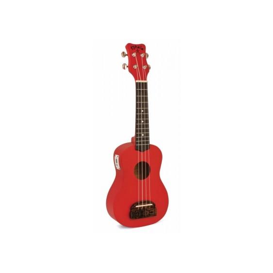 """Kohala """"TIKI"""" Soprano Size Ukulele Teacher Or uke Club 10 Pack Bundle - Red"""