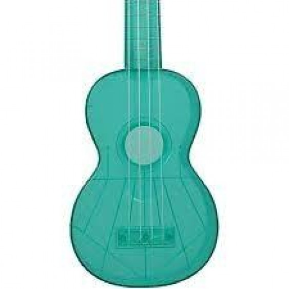 Kics Ukuleles Model KUS-TG Translucent Green Soprano ABS Ukulele with Gig Bag
