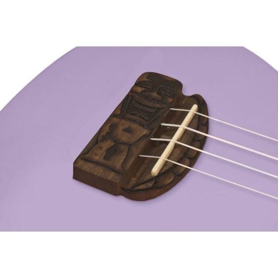 """Kohala """"TIKI"""" Soprano Size Ukulele Teacher Or uke Club 10 Pack Bundle - Purple"""