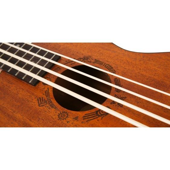 Kremona Flight DU Bass Mahogany 4-String Acoustic Electric Ukulele Bass with Bag