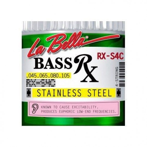 LaBella Model RX-S4C Bass Rx Stainless Steel Strings, Custom