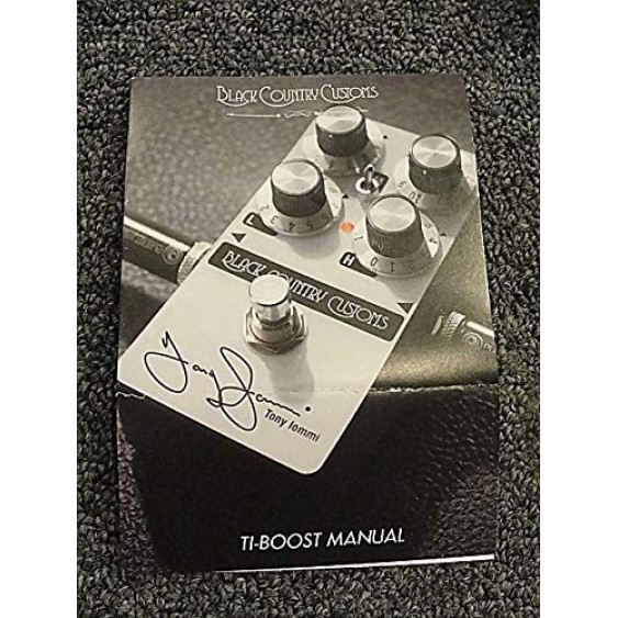 TI Boost Black Country Customs Tony Iommi 50th Anniversary Boost Guitar Effects Pedal