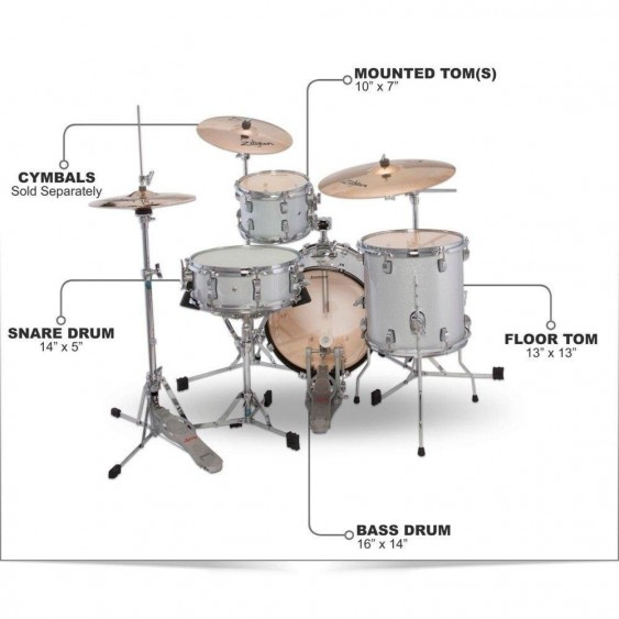 Ludwig Breakbeats By Questlove 4-piece Shell Pack - Store Demo #N164