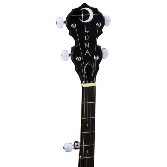 Luna Model BGB CEL 5 5-String Acoustic Celtic Banjo with Transparent Head