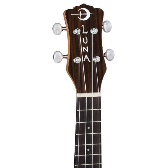 Luna UKE TRIBAL C EL Concert Size CAW Mahogany Acoustic Electric Ukulele