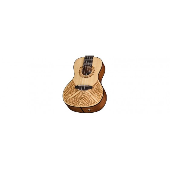 Luna UKE TAPA SPR Luna Concert Solid Spruce Top Acoustic Electric Ukulele w/ Bag