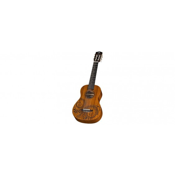 Luna Uke Tattoo 6-String Baritone Mahogany Rosewood Board Ukulele  With Gig Bag