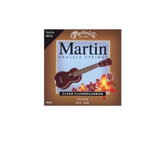 Martin M620 Clear Fluorocarbon Ukulele Strings for Tenor Ukulele - SHIPS FREE