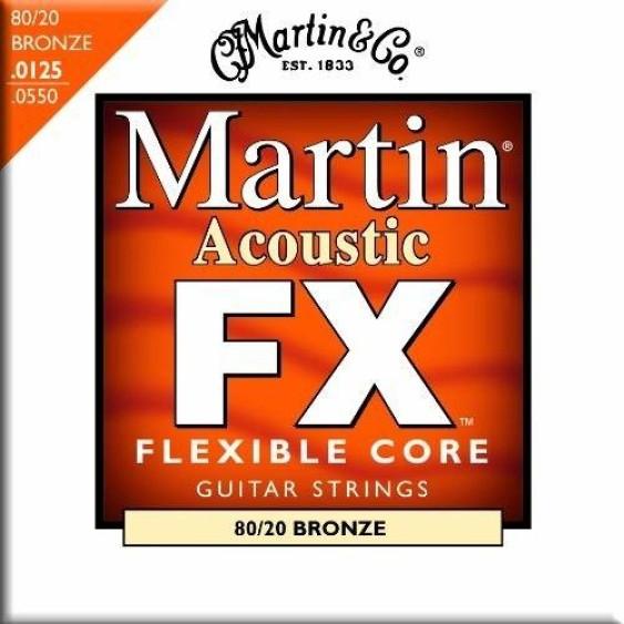 Martin MFX645 80/20 Bronze Acoustic Guitar Strings Light-Medium Gauge 12-52