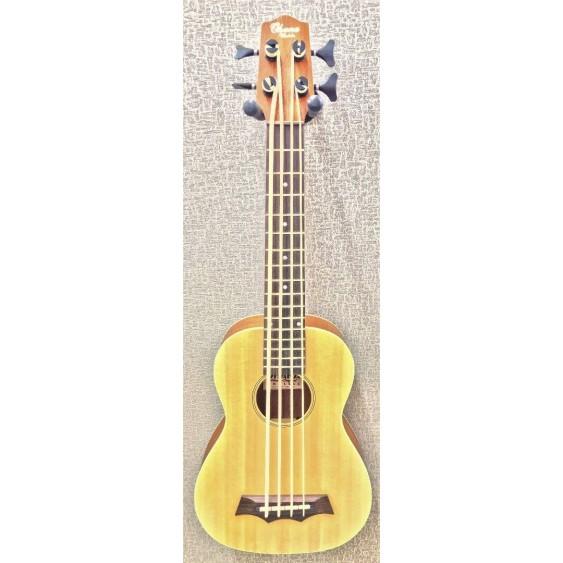 Ohana BKB-22E Acoustic Electric 4-String Solid Spruce Top Ukulele Bass - NEW