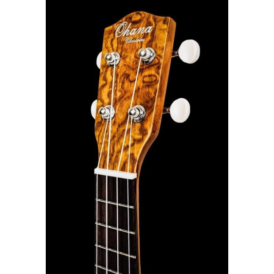 Ohana Model SK-15W Soprano Size All Willow Wood Ukulele  - FREE Gig Bag +