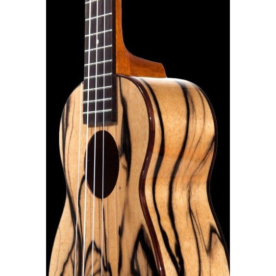 Ohana SK-15BWE Limited Exotic Black and White Ebony Soprano Size Ukulele