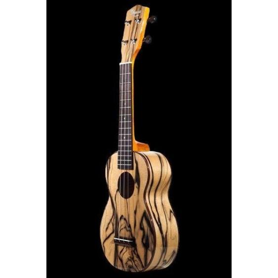 Ohana SK-15BWE Limited Exotic Black and White Ebony Soprano Size Ukulele