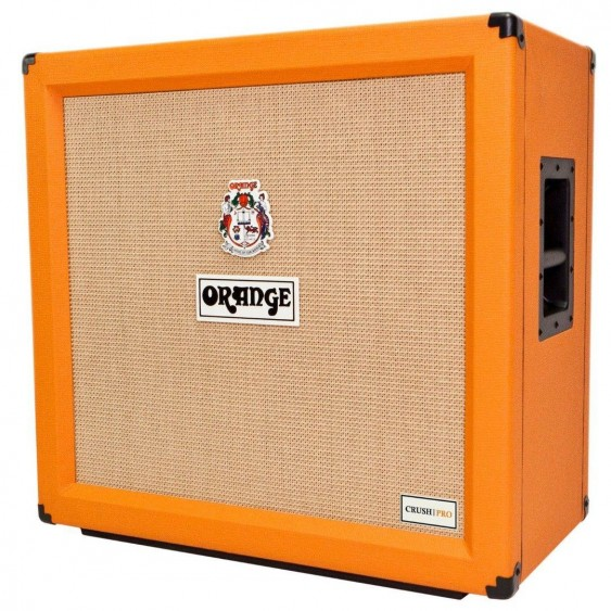 Orange CRPRO412 4x12 Crush Pro 240 W Speaker Cabinet, Cable Fender Picks Bundle
