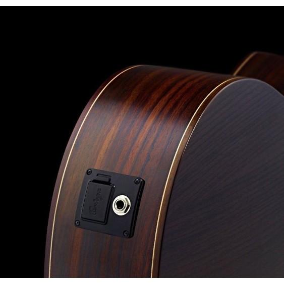 Ortega RCE145BK Black Pro Electric/Acoustic Classical Guitar  - Blem #XZ144