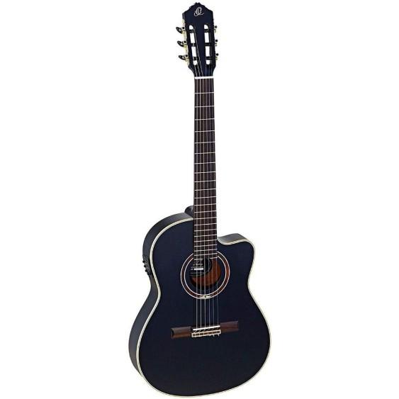 Ortega Guitars RCE138-4BK Feel Series Slim Neck Nylon 6-String Guitar-New Discontinued