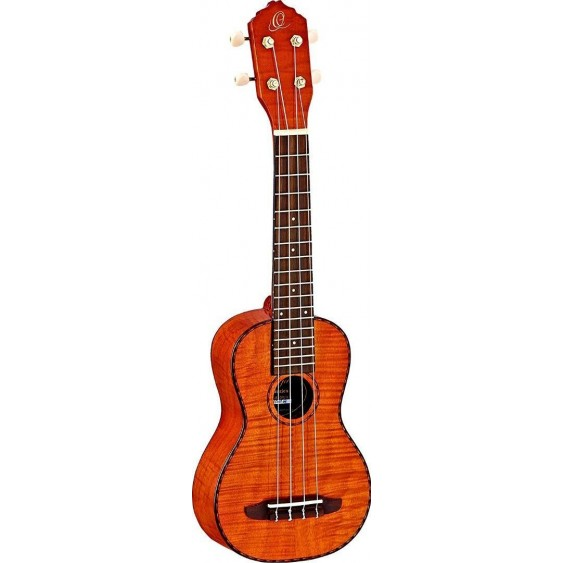 Ortega RUK10FMH Soprano Ukulele Flamed Mahogany Top and Sides -NEW Discontinued