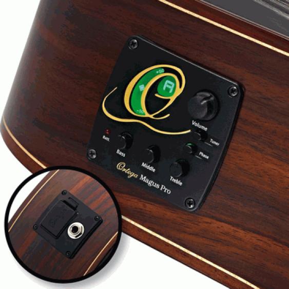 Ortega RCE131SN Pro Slim Neck Electric/Acoustic Classical Guitar  - Blem #XZ40