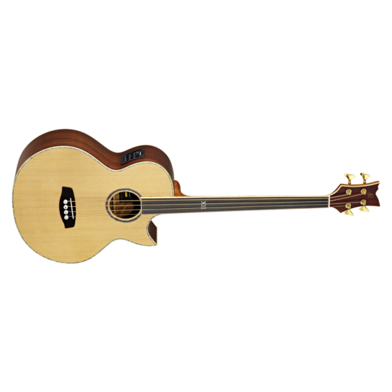 Ortega Guitars D2-4FL Two Fretless 4-String Acoustic Bass with Solid Cedar Top and Rosewood Body, Satin Finish  - Blem #XZ150