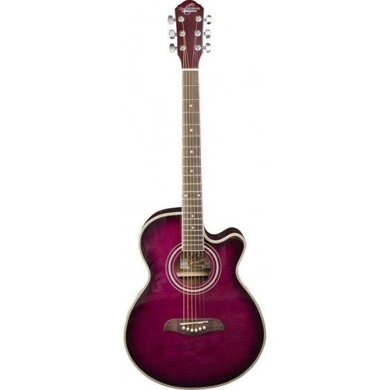 oscar schmidt og10ceftpb concert size acoustic electric purpleburst guitar. Black Bedroom Furniture Sets. Home Design Ideas